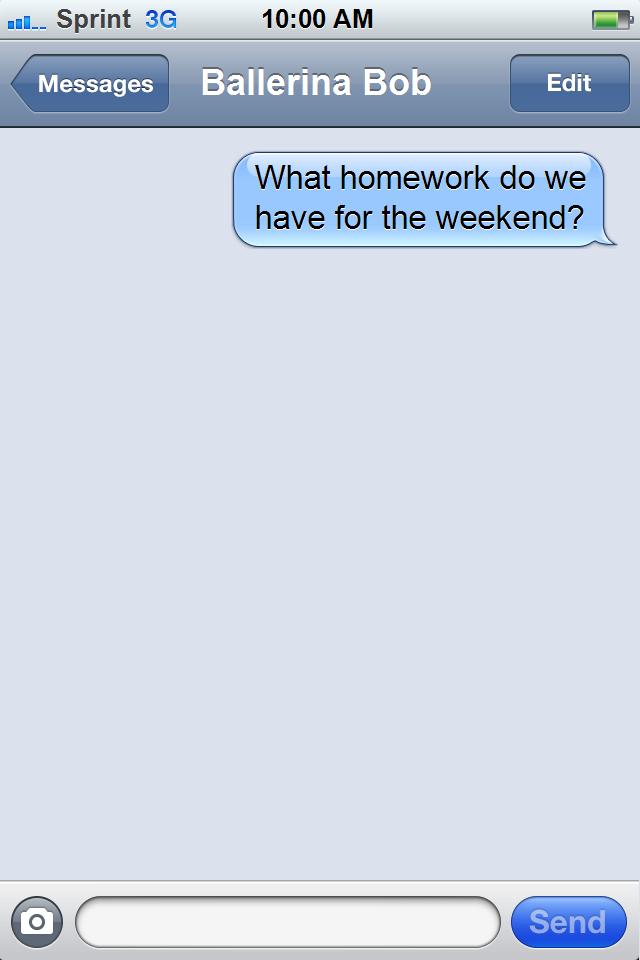 homework text