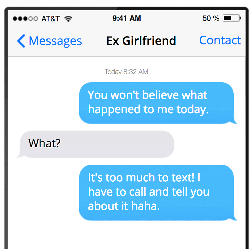 What his text messages mean