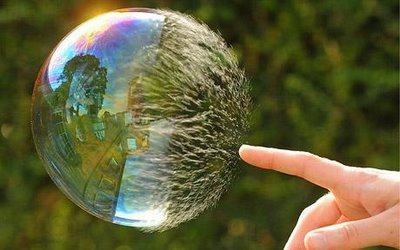 burst bubble