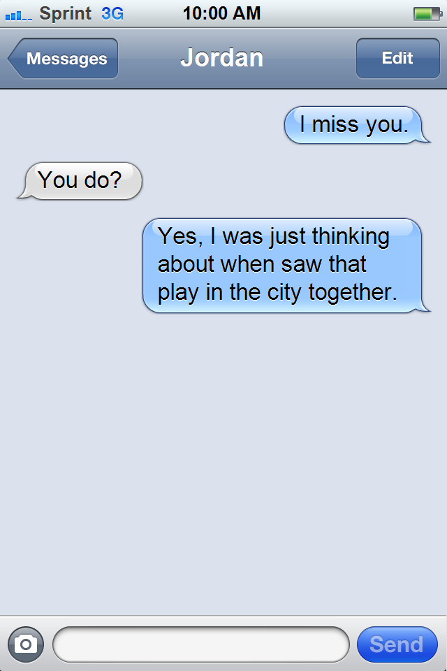 broke up by text