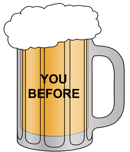 beer before the breakup