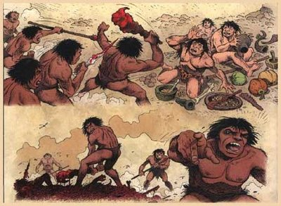 caveman fights