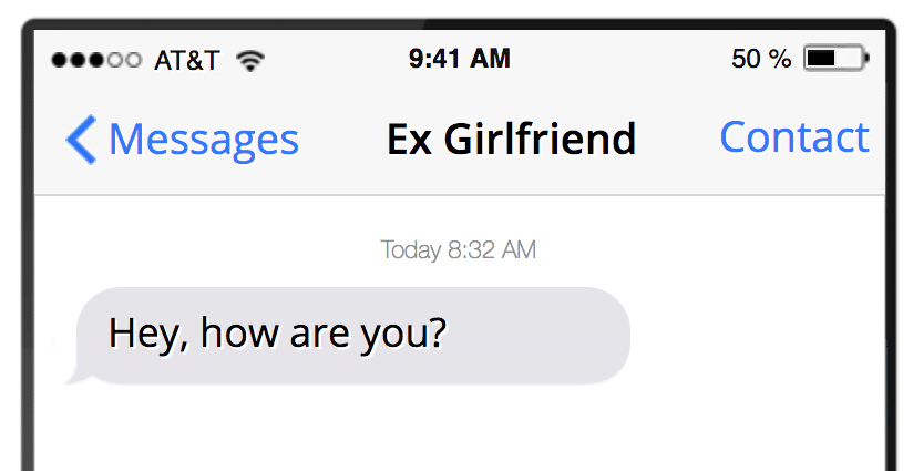 Ex girlfriend texted me out of the blue