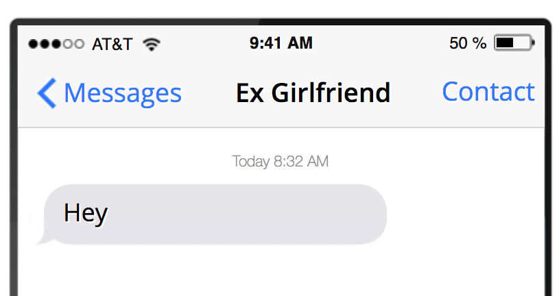 Ex girlfriend texts
